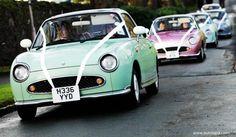 Nissan Figaros as wedding cars - gorgeous!