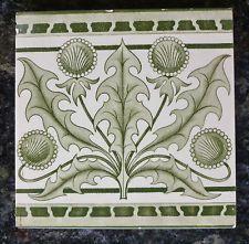 Jugendstil Fliese art nouveau tile tegel V&B Mettlach Löwenzahn schön rar
