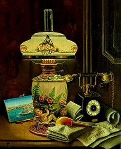 Картины (живопись) : ЛАМПА И ТЕЛЕФОН. Автор Вячеслав Юрьевич Чиликин