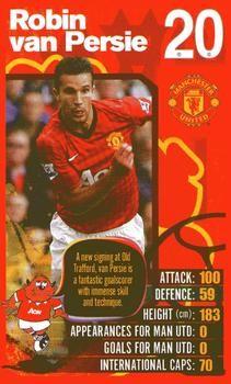 2012-13 Top Trumps Manchester United #NNO Robin van Persie Front