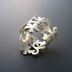 GABRIELLE'S AMAZING FANTASY CLOSET | Enchanted Floral Branch Silver Ring - Made to Order