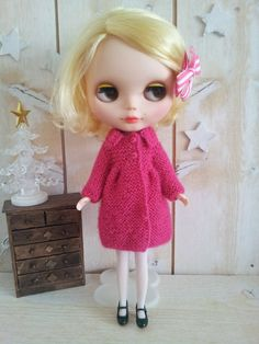 Blythe  knitted coat by LouiseCaroline on Etsy, $40.00
