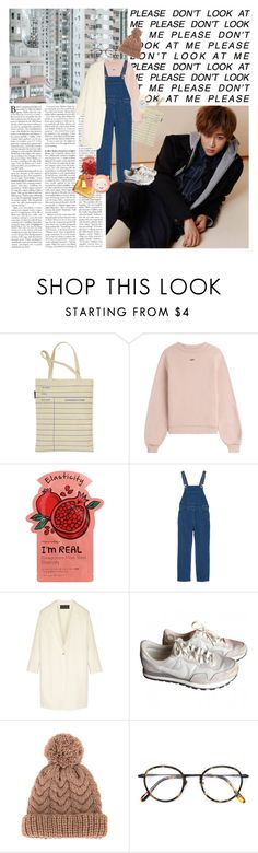 """""""outfit #401"""" by baekksi ❤ liked on Polyvore featuring Bambam, Out of Print, Off-White, Tony Moly, Monki, Donna Karan, NIKE, 7II, Frency & Mercury and The Face Shop"""