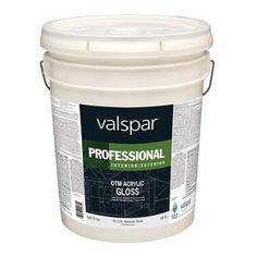 Valspar White Gloss Latex Interior/Exterior Paint (Actual Net Contents