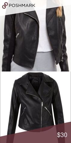 New look faux leather jacket Like new, no damage. in excellent condition size large. New Look Jackets & Coats