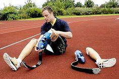 Pistorius' Cheetah Flex-foot leg prosthesis