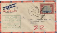 A collection of covers and first day covers of the first three Women's Air Derbies Decorated Envelopes, The Ch, First Day Covers, Vintage Images, Postage Stamps, Wwii, Derby, Ads, Vintage Pictures