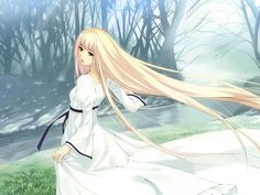 anime boy with blonde hair and teal eyes - Yahoo Image Search Results Blonde Hair Anime Girl, Anime Long Hair, Guerra Anime, Manga Anime, Anime Art, Teal Eyes, Ninja Girl, Girls White Dress, Dress Girl