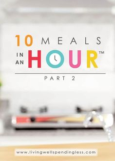 I am excited to share this no-bake version of 10 Meals in an Hour which includes five awesome warm weather recipes that are cooked either on the grill or in the crock pot—no oven required! Easy Freezer Meals, Dump Meals, Make Ahead Meals, Freezer Cooking, Quick Easy Meals, Cooking Recipes, Soup Recipes, Easy Cooking, Cooking Time