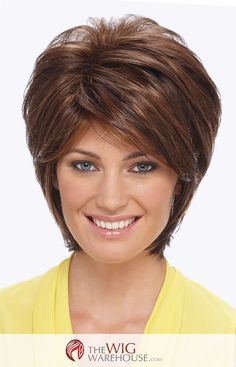 The Renae by Estetica Designs is a contemporary spin on the classic shag style. Filled with a unique sassy appeal, this short style wig has soft razored layers that adds to the volume and overall natu