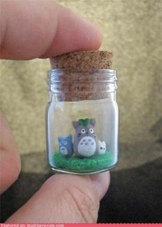 I love Totoro and so does my sister...as soon as I saw this I thought it would be the perfect gift for her, and I could probably make it myself.