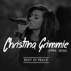 """heyrecklessandthebrave: """"Another young and talented artist gone away too soon. Just woke up to the news about Christina Grimmie, I'm so upset she was only 22 and had such an amazing future ahead. She..."""