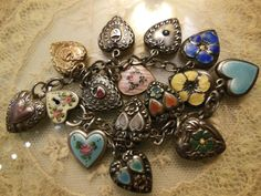 vintage walter lampl charm bracelet