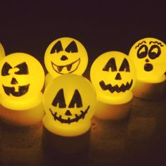 glowing halloween decorations easy inexpensive super fun - Halloween Ping Pong Balls
