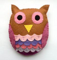 Handcraft Tutorials: Felt: Owl