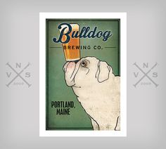 Customize Personalize BULLDOG Brewing Co. Beer by nativevermont