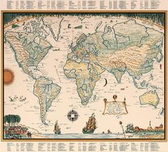Van Loon's map of the World, 1932