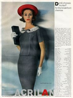 Lucinda Hollingsworth for Acrilan, 1958