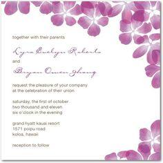 Cute! Purple wedding invite