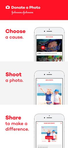 Choose a cause. Shoot a photo. Share to make a difference. Download now.