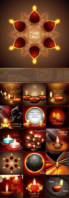 Блог Колибри: Beautiful Diwali Greeting backgrounds set 3