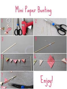 How to Make a Mini Paper Bunting from Scrapbook Paper