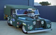 Well it's not really an off-roader anymore! Land Rover Series I Defender Dragster! Not the usual Series motor!!