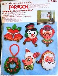 S Christmas Magnetic Holiday Hold-Ups Kit from Paragon Needle-Craft, Vintage S