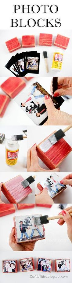 DIY Photo Blocks - http://www.homedecoz.com/home-decor/diy-photo-blocks/