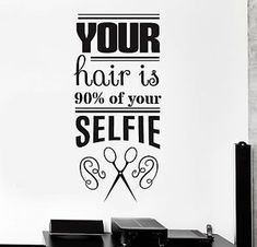 Vinyl Wall Decal Funny Hair Salon Quote Barbershop Stylist Stickers Unique Gift Related posts: Todays work ~ from brown hair to black hair with a trim Rudys b. Barbershop Quotes, Barber Quotes, Barbershop Design, Barbershop Ideas, Hair Salon Quotes, Hair Quotes, Barber Shop Decor, Hairstylist Quotes, Salon Signs