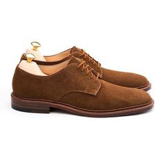 leatherfootemporium A classic Alden snuff suede blucher, available at LeatherFoot Emporium. 2016/05/15 01:05:53