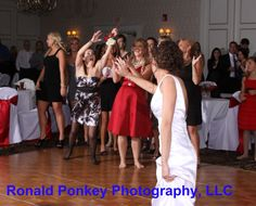 Bouquet toss shot