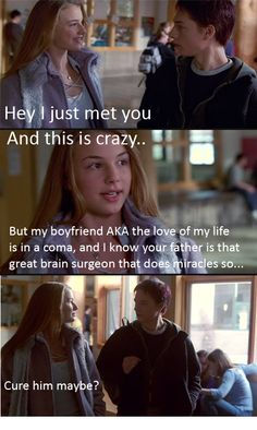Call me maybe - Everwood Cure him maybe...hahaha that was basically the whole first season lol I love that show still though
