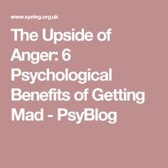 psychological study of anger 2007-12-1 this case study describes application of the cognitive therapy (ct) approach developed by aaron t beck and colleagues to a young woman with clinically dysfunctional anger.