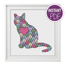 Welcome to Peppermint Purple PATTERNED CAT PATTERN THIS INSTANTLY DOWNLOADABLE CROSS STITCH CHART HAS THE FOLLOWING DETAILS:  Stitches: 135 W x 141 H On Read More »