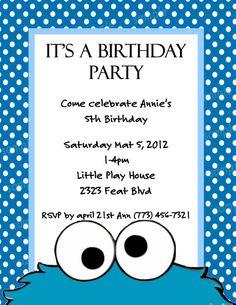 Cookie monster invitation orderecigsjuicefo personalized digital cookie monster invitation by birthday invitations filmwisefo