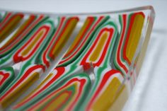 """By Chehalem Mountain Glassworks.  """"Holiday"""" detail.  11x7x1-1/2in.  3/8in thick.  www.chehalemmountainglassworks.com"""