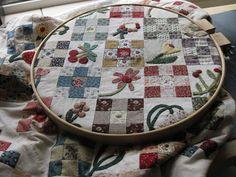 Elke dag een steekje, reproduction quilt, like the small applique
