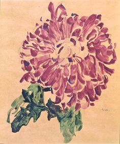 Egon Schiele  Pink Chrysanthemum  1910