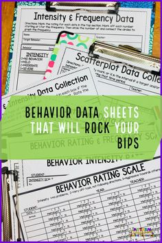 Rating scales are a lifesaver when it comes to tracking problem behavior for a behavior support plan. They can help you figure out whether the severity is getting better or worse and they are easy to use. This post has tons of examples of rating scales and behavior data sheets that will make a special education teacher's life so much easier!! #pbis #rti #datacollection #specialeducation #specialeducationdata #appliedbehavioranalysis #positivebehavioralsupport