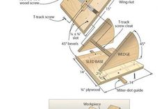 Quick-action 45˚ miter sled