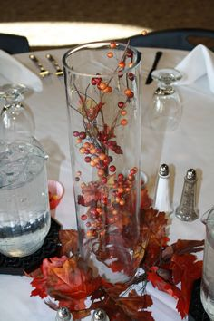 Centerpeice my mom and I created for my wedding Autum Wedding, Fall Wedding Flowers, Our Wedding, Dream Wedding, Wedding Pumpkins, Pumpkin Wedding, Big Dipper, Centerpiece Decorations, Wedding Wishes