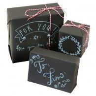 Chalk Board Gift Wrap Kit