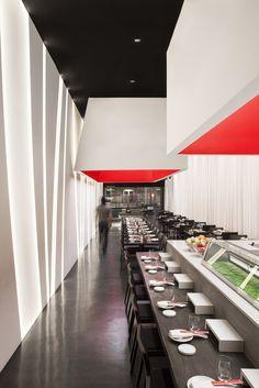 Gallery of yojisan / dan brunn architecture - 2 restaurant р Cafe Bar, Cafe Restaurant, Restaurant Ideas, Restaurant Interior Design, Modern Interior Design, Sushi Cafe, Sushi Menu, Sushi Bar Design, Architecture Design