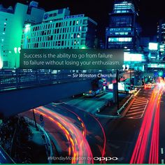"""""""Success is the ability to go from failure to failure without losing your enthusiasm."""" - Sir Winston Churchill #MondayMotivation"""