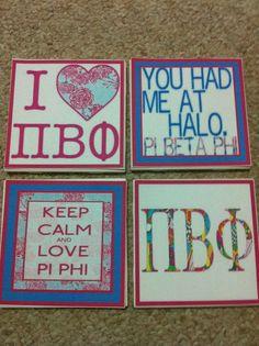 Pi Phi coasters #piphi #pibetaphi