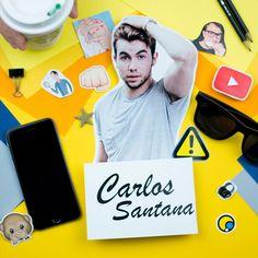 Carlos Santana mostra como é sua vida de youtuber no canal de daily vlog! #Scrapbooking #FazendoArteNaDia