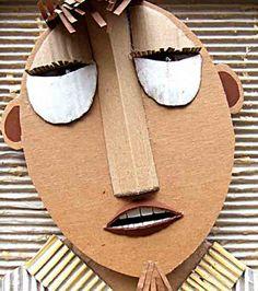 Welcome to Leo& website Cardboard Relief, Cardboard Mask, Cardboard Sculpture, Cardboard Crafts, Paper Crafts, Fun Activities For Kids, Art Activities, Diy Arts And Crafts, Crafts For Kids