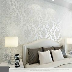 10M Many Colors Luxury Embossed Textured Wallpaper Non-woven Decal Wall Paper Rolls for Living Room Bedroom Decoration -2NWWR-SJ from weddingaccessory, $16.47 | DHgate Mobile