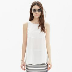 Madewell - Sunbask Tank Top in Pure White